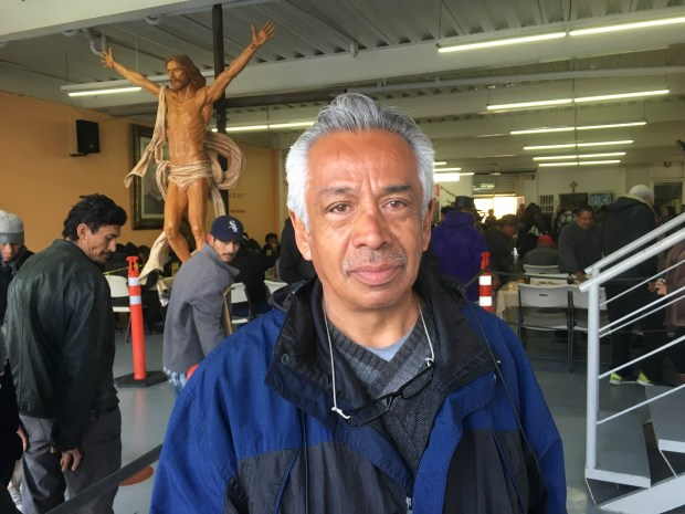 Deportee Roger Mondragon, 59, who lived in the Los Angeles area for 40 years before he was deported in 2015, after eating breakfast at a soup kitchen in Tijuana, Mexico on Feb. 27, 2018. (Casey Tolan/Bay Area News Group)