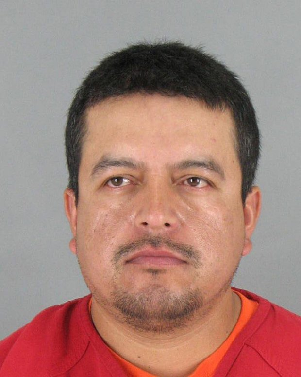 Alfonso Aguilar-Jaimes, 36, of San Jose, was arrested in Modesto on Tuesdayon suspicion of sexually assaulting a 7-year-old relative in Half Moon Bay on two different occasions, authorities said. (Courtesy of the San Mateo County Sheriff's Office)