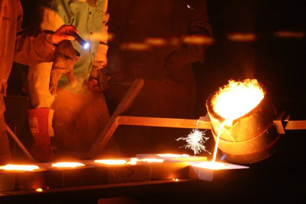 "Metal casting artist James Brenner will lead a live demonstration ofmelting guns into tools at the April 6 ""Lead To Life"" ceremony, organized by Oakland activists, at Atlanta's King Center. Brenner is bringing his portable foundry, as well as open-face molds and shovel handles, to the ceremony. (Photo courtesy of James Brenner.)"