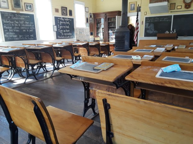 Imagine life as a kid in the 1800s in the Old Sacramento SchoolhouseMuseum.(Courtesy of Angela Hill)