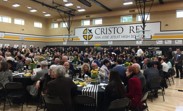 Supporters of Cristo Rey San Jose Jesuit High School at the school's Rey ofHope scholarship fundraiser, which was held in the newly opened Valley Foundation Pavilion on Wednesday, March 14, 2018. (Sal Pizarro/Bay Area News Group)