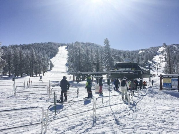 Lake Tahoe-area ski resorts, including Heavenly, received roughly 5 feetof snow between Thursday and Saturday, the biggest storm of the year in an otherwise dry season. (Photo: Heavenly)