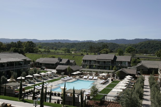 The Rosewood Sand Hill Hotel in Menlo Park opens its doors to the public today, April 2, 2009, after two years of construction. (Konstandinos Goumenidis / Daily News)