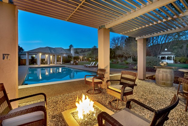 This Almaden Valley home at 22730 Davis Court sits on 2.49 acres and features a resort-style backyard.