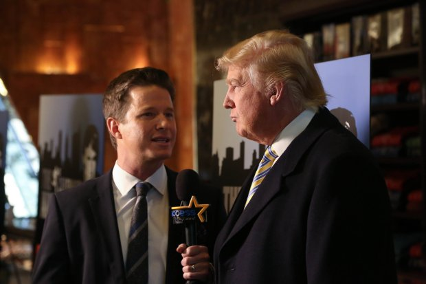 NEW YORK, NY - JANUARY 20: Donald Trump (R) is interviewed by Billy Bush ofAccess Hollywood at 'Celebrity Apprentice' Red Carpet Event at Trump Tower on January 20, 2015 in New York City. (Photo by Rob Kim/Getty Images)
