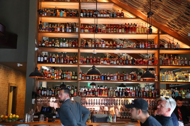 The bar area is photographed at Beer Baron Bar & Kitchen on Wednesday, April 4, 2018, in Oakland, Calif. (Aric Crabb/Bay Area News Group)