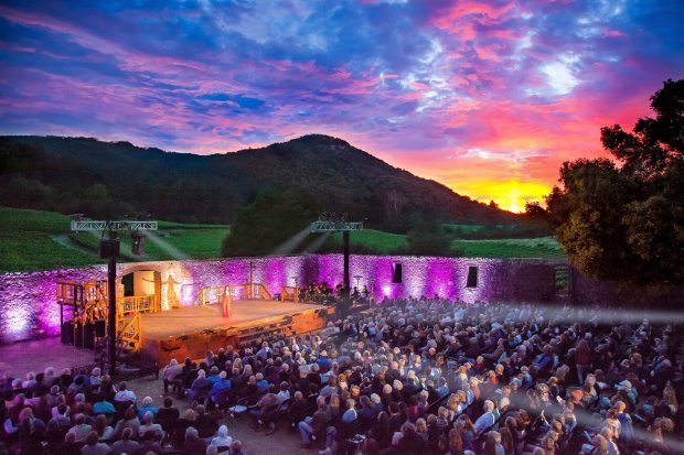 "Sonoma Valley's gorgeous landscape sets the scene each summer for theTranscendence Theatre Company's ""Broadway Under the Stars"" productions at Jack London State Park. (Transcendence Theatre Company)"