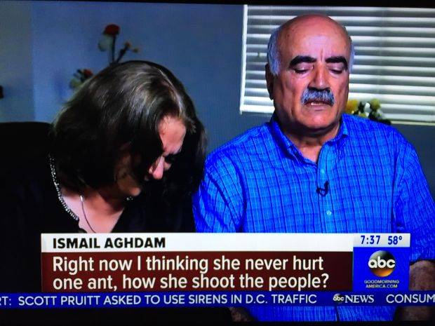 "Screenshot of ""Good Morning America"" interview on April 6, 2018 with the parents of Nasim Aghdam, the woman who authorities say took out a grudge against YouTube by storming the company's San Bruno campus and shot and wounded three people before shooting and killing herself."