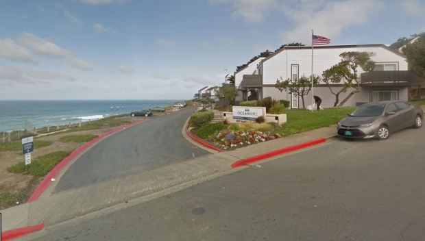 The owners of Oceanaire Apartments, located on Esplanade Avenue in Pacific, are facing a $1.45 million penalty from the California Coastal Commission for blocking public access to Pacific Manor Beach. (Google Maps)