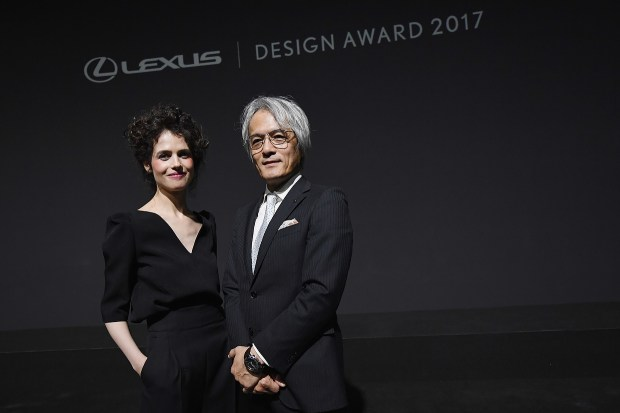 Neri Oxman and Yoshihiro Sawa attend Lexus Yet during Milan Design Week 2017 on April 3, 2017 in Milan, Italy. (Photo by Valerio Pennicino/Getty Images for Lexus)