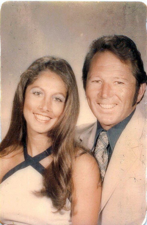 """A photograph of Jennifer Carole's father Lyman Smith and stepmother, Charlene Smith who were both bludgeoned to death by the so-called """"Golden State Killer."""" (Photograph courtesy of Jennifer Carole)"""