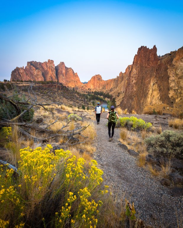 Central Oregon's stunning Smith Rock formation is all that remains of avolcanic caldera that collapsed long ago. erness lovers. (Central Oregon Visitors Association)