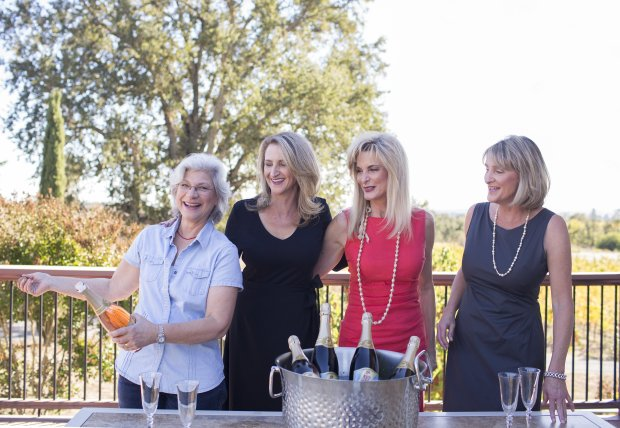 Healdsburg's Breathless Wines are a collaboration between winemaker PennyGadd-Coster, left, and owners -- and sisters -- Cynthia Faust, Sharon Cohn and Rebecca Faust. (Breathless Wines)
