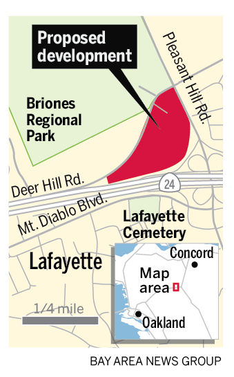 Locator map for Deer Hill project, which is the subject of Measure L on the Lafayette ballot.