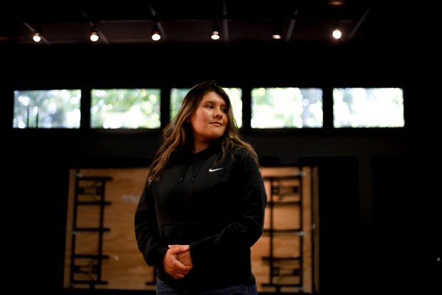 A portrait of Magali Pineda at the Boys and Girls Club in Redwood City, Calif., on Monday, April 30, 2018. Pineda, who plans to attend the University of California Riverside recently received a scholarship from Golden State Warriors' star Kevin Durant. (Randy Vazquez/ Bay Area News Group)