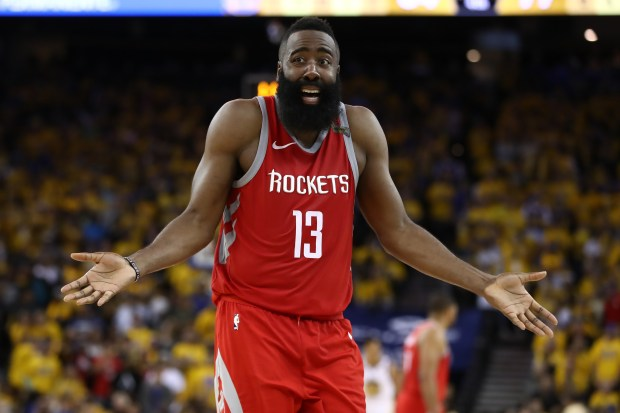 James Harden #13 of the Houston ...