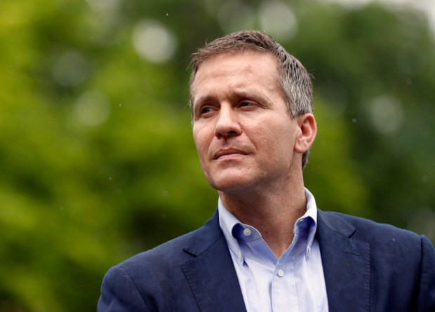 Missouri Gov. Eric Greitens, May 2018. (AP Photo/Jeff Roberson, File)