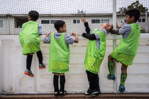 The Deputy Sheriffs' Activities League provides opportunities for Alameda County children to play sports at facilities like this one in San Leandro. (Salwan Georges/The Washington Post)