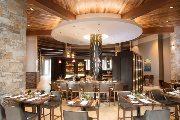 Charlie Palmer Steak inside downtown Napa's Archer Hotel features naturalstone, wood and other natural elements in a modern and bright setting. (Photo: Archer Napa)