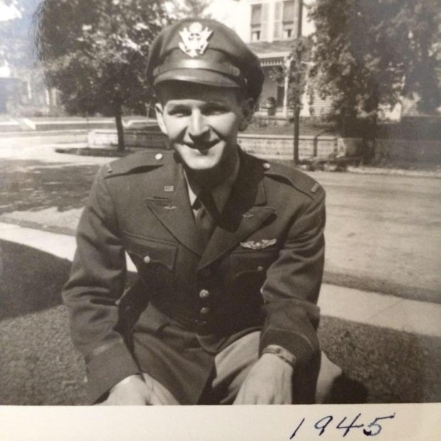 Paul Mayer flew B17 planes for the military during World War II. (Courtesyof Anne Sherman)