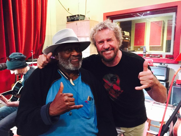 From left, Taj Mahal and Sammy Hagar (Jim Harrington, Staff)