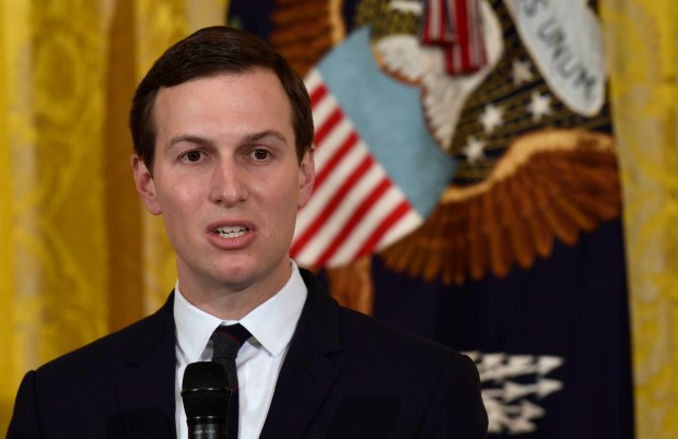 White House adviser Jared Kushner speaks in the East Room of the White House in Washington, Friday, May 18, 2018, during a Prison Reform Summit. (AP Photo/Susan Walsh)