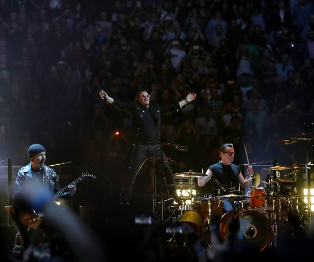 U2 performs at SAP Center on May 7, 2018 (SAP Center Photographer)
