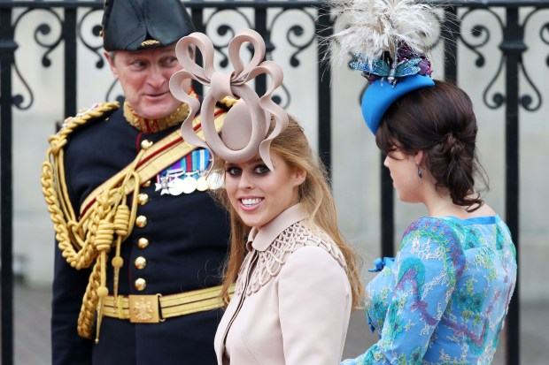 LONDON, ENGLAND - APRIL 29: Princess Beatrice of York (L) with her sister Princess Eugenie of York arrive to attend the Royal Wedding of Prince William to Catherine Middleton at Westminster Abbey on April 29, 2011 in London, England. The marriage of the second in line to the British throne is to be led by the Archbishop of Canterbury and will be attended by 1900 guests, including foreign Royal family members and heads of state. Thousands of well-wishers from around the world have also flocked to London to witness the spectacle and pageantry of the Royal Wedding. (Photo by Chris Jackson/Getty Images)