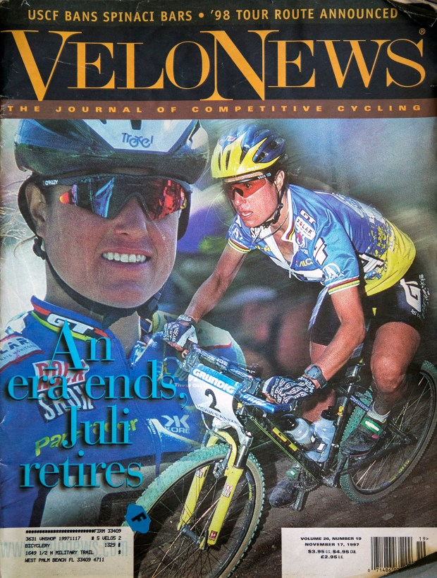 Velo News cover featuring Juliana Furtado. Handout photo provided by Juliana Furtado.