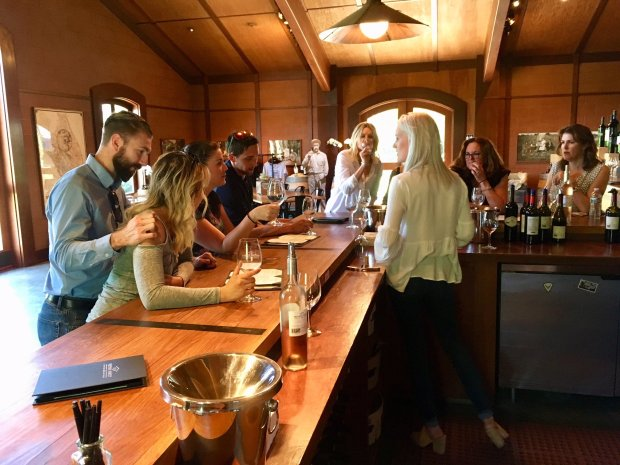 """Sips in the Pestoni Family Winery come with a wine education seminar thatincludes, among other things, a discussion of """"Rutherford dust."""" (Courtesy Allen Pierleoni)"""