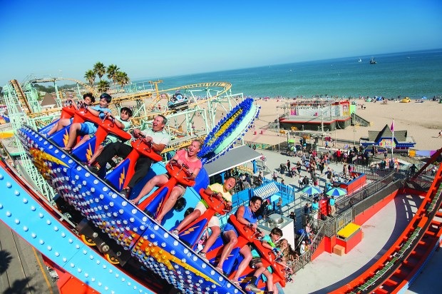The Shockwave at the Santa Cruz Beach Boardwalk in Santa Cruz, California. (Santa Cruz Beach Boardwalk)