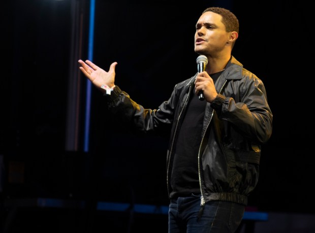 Comedian Trevor Noah from The Daily Show performs at Clusterfest on June 1, 2018 in San Francisco, California. (Photo by Haley Nelson)