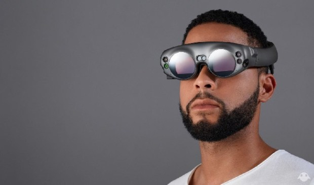 The Magic Leap One headgear is due to ship, at least to developers, later this year. (Courtesy of Magic Leap)