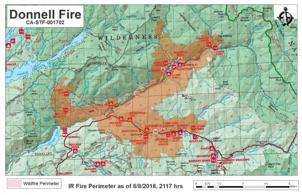 California Fire Map New Wildfires Close Roads Campgrounds In