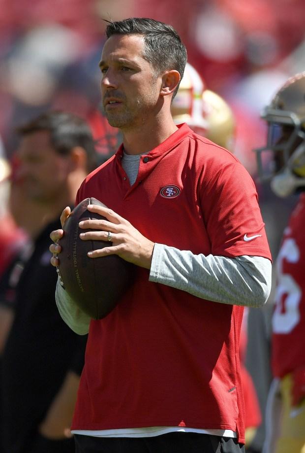 Head coach Kyle Shanahan of the ...