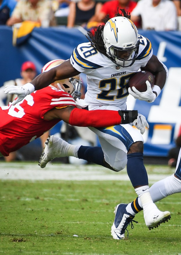 Running back Melvin Gordon #28 of ...