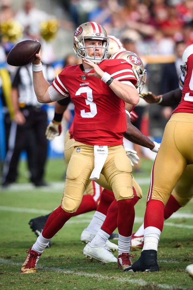 Quarterback C.J. Beathard #3 of the ...