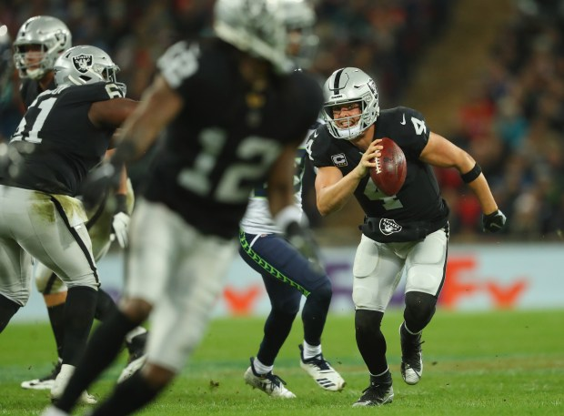 Derek Carr of the Oakland Raiders ...