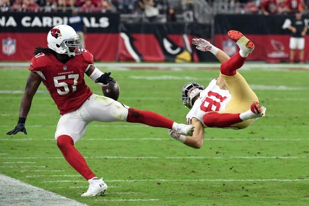Linebacker Josh Bynes #57 of the ...