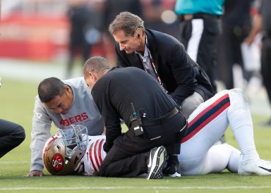 Report: Ex-49er Reuben Foster tears ACL at Washington practice