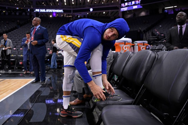 The Warriors may have leaked a peek at the next edition of Curry's UA shoes, too.