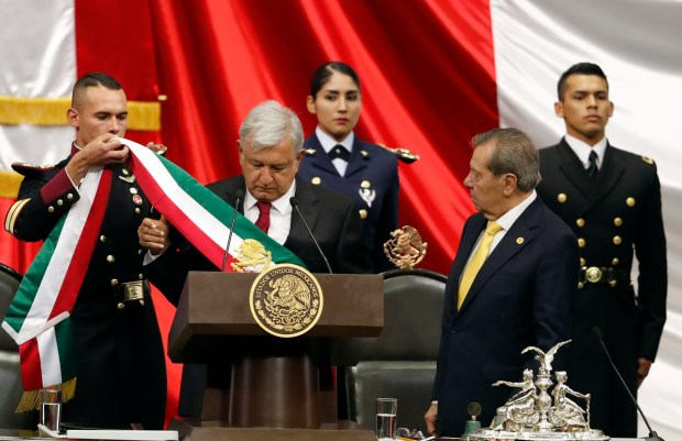Leftist sworn in as Mexico's president, pledges transformation of nation