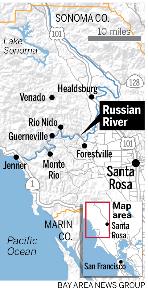 Russian River flooding swamps two dozen towns