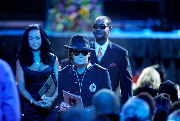 76271e6b6f811 Corey Feldman joins others gathered for Michael Jackson s memorial in  Staples Center in 2009.