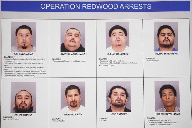 San Jose: Murder Suspect, 7 Others Arrested In Gun Crime