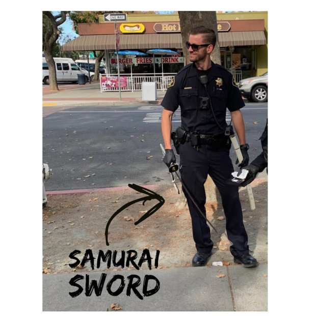 Burgarly suspect arrested with samurai sword in downtown Concord