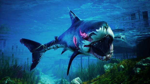 Review: Humor, shark-fueled power fantasy carry flawed 'Maneater'