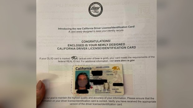 California woman's new REAL ID has a photo of her wearing a face mask 2