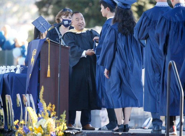 Photos: Leland High School honors their Class of 2021 with two socially distanced graduation ceremonies 11