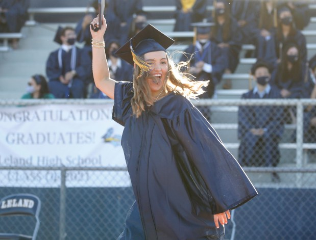 Photos: Leland High School honors their Class of 2021 with two socially distanced graduation ceremonies 9